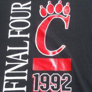 Vintage 1992 Cincinnati Bearcats Final Four T-Shirt
