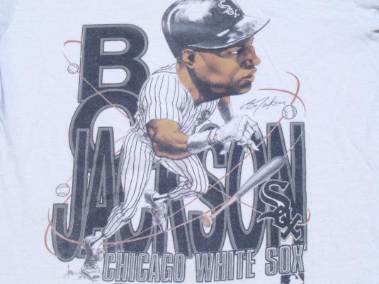 Vintage 1991 Gray Bo Jackson Chicago White Sox Cotton T-Shirt S/M