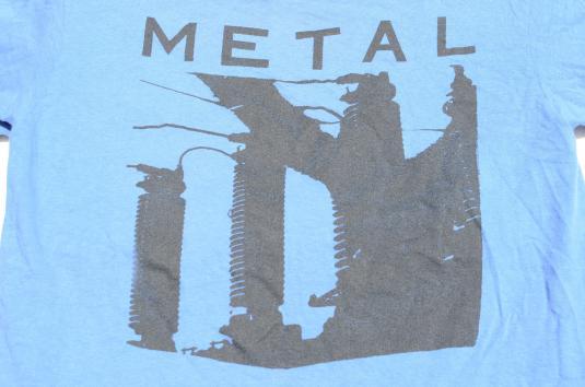 Vintage 1987 REM Metal Green Concert Tour Blue T Shirt L