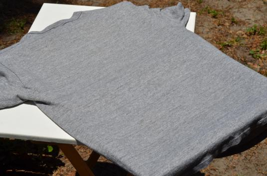 Vintage 1980s Air Force Heather Gray Rayon Blend T Shirt L