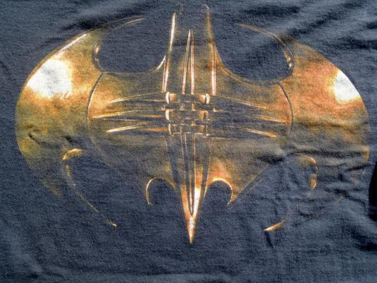 Vintage 1995 Batman Forever Black Movie T-Shirt L