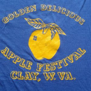 Vintage 1980s Golden Apple Festival Clay West Virginia Blue
