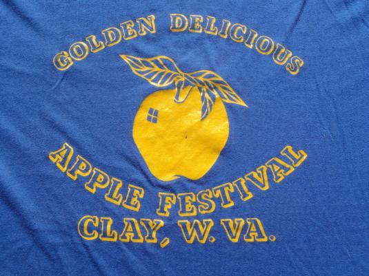 Vintage 1980s Golden Apple Festival Clay West Virginia Blue