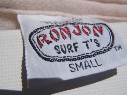 Vintage 1987 Long Sleeve Ron Jon Pocket T Shirt S