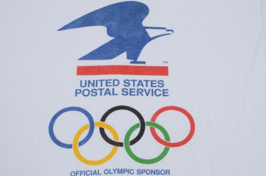 Vintage 1980s USPS Olympics T-Shirt L