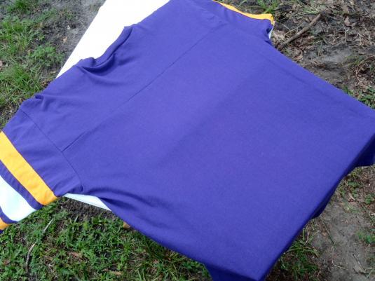 Vintage 1980s Minnesota Vikings Purple Jersey T-Shirt XL