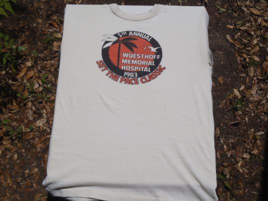 Vintage 1983 Wuesthoff Hospital Run T Shirt S