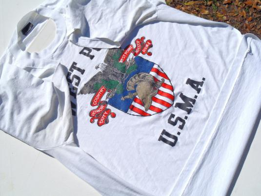 Vintage 1980s West Point Military Academy White T-Shirt XL