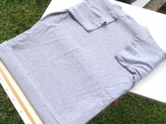 Vintage 1980s Pitt Basketball Gray Rayon Blend T Shirt M