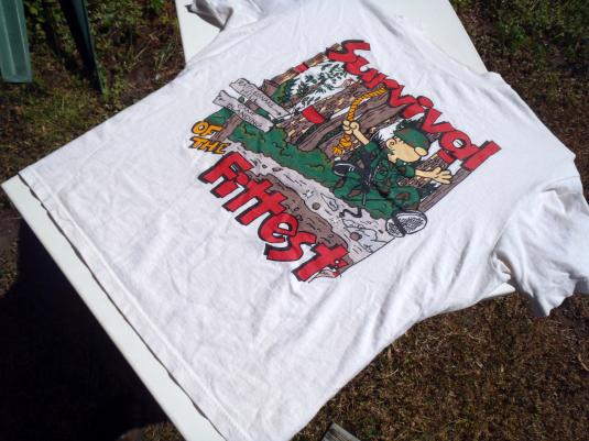 Vintage 1990s Beetle Bailey Camp Blanding White T Shirt XL