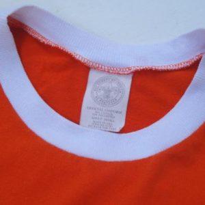 Vintage 1980s Tiger Cub Scout Orange Ringer T-Shirt S/M