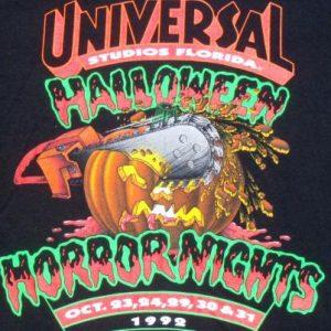 Vintage 1992 Black Halloween Horror Nights Universal T Shirt XL