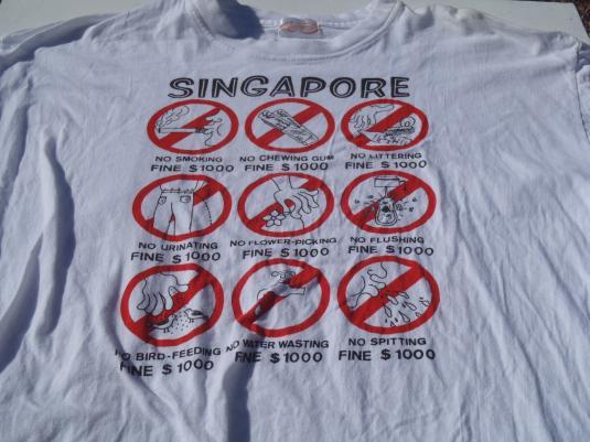 Vintage 1990s Singapore Souvenir T-Shirt XL
