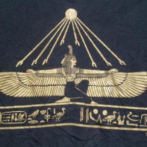 Vintage 1990s Egyptian Wings Black T-Shirt XL