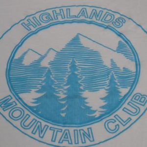 Vintage 1980s Highlands Mountain Club T-Shirt L/XL