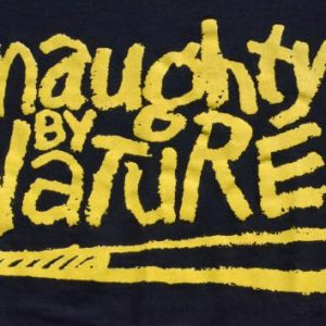 Vintage 1993 Naughty By Nature Black T-Shirt