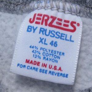 Vintage 1980s UAW GM Tarrytown Gray Rayon Blend Sweat Shirt