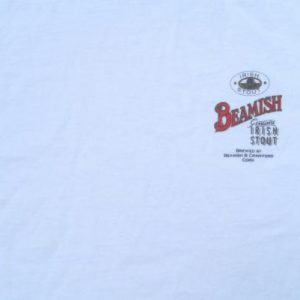 Vintage 1990s Beamish Stout White Cotton Beer T-Shirt L