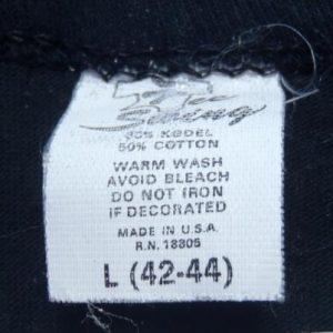 Vintage 1980s Montauk Point NY Black Souvenir T-Shirt L