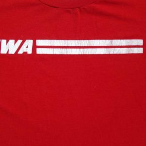 Vintage 1980s TWA Trans World Airlines Logo T Shirt L