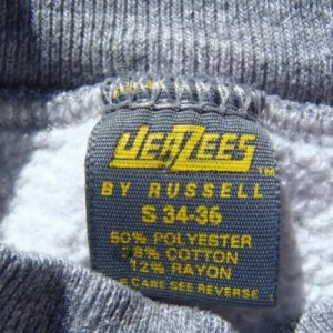 Vintage 1980s University of New Mexico Gray Rayon Sweat Shirt S