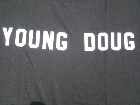 Vintage 1980s Black Young Doug T-Shirt XXL