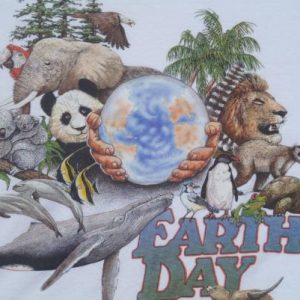 Vintage 1989 Earth Day T-Shirt L