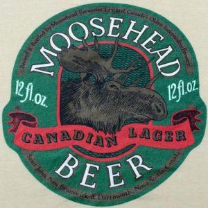 Vintage 1980s Moosehead Beer Beige Advertising T ShirtS/M
