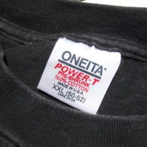 Vintage 1980s Gorilla Snot Black Cotton T-Shirt XXL Oneita