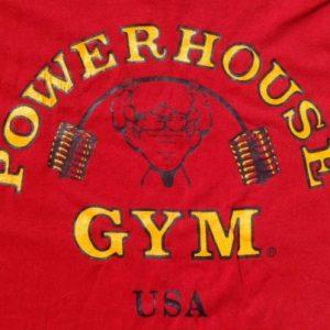 Vintage 1980s Powerhouse Gym Red T-Shirt L/XL