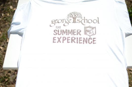 Vintage 1980s George SchoolWhite T-Shirt L