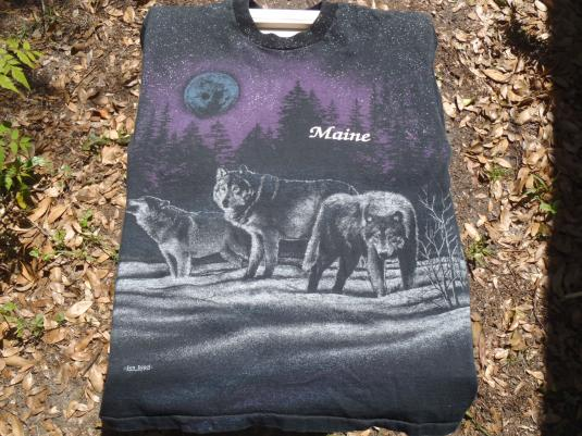 Vintage 1991 Wolves of Maine T Shirt