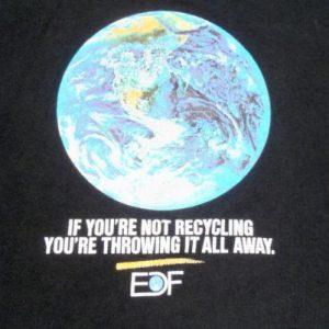 Vintage 1980s Black Earth Recycle EDF Cotton T-Shirt L