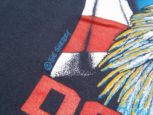 Vintage 1990s Desert Storm Patriotic Eagle Black T-Shirt L