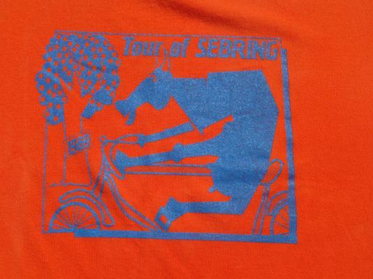 Vintage 1989 Sebring Bicycle Tour T-Shirt L