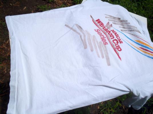 Vintage 1992 Winston Cup NASCAR Daytona Pocket T Shirt L
