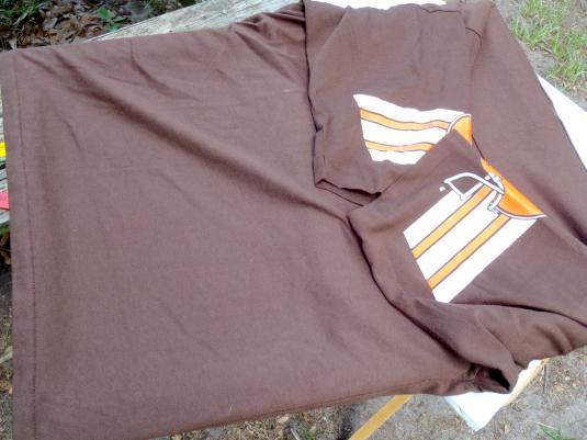 Vintage 1970s Cleveland Browns NFL Jersey T-Shirt L by Garan