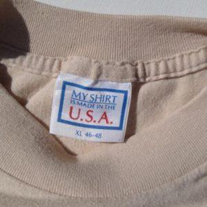 Vintage 1980s New York Wacky Letters Beige T Shirt L/XL