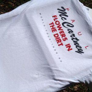 Vintage 1989 Paul McCartney Flowers in Dirt White T-Shirt XL