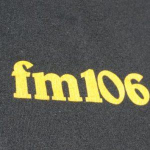 Vintage 1980s WELE FM 106 Black T-Shirt XL