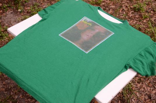 Vintage 1970s Maria Muldaur Green Cotton Promo T ShirtXL