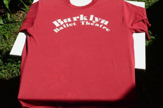 Vintage 1980s Burklyn Ballet Red T-Shirt L