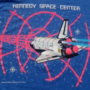 Vintage 1980s Space Shuttle Kennedy Space Center T-Shirt M/L
