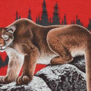 Vintage 1980s Cougar Red T-Shirt