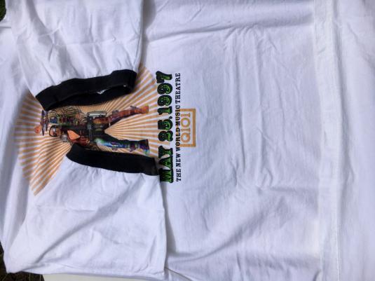 Vintage 1997 Q101 Chicago Jamboree White Ringer T Shirt XL
