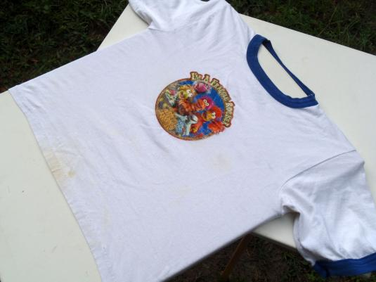 Vintage 1980s I'm a Fraggle Rocker Whte Ringer T Shirt L