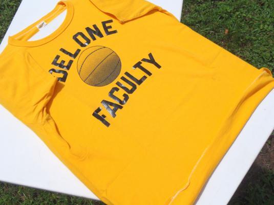Vintage 1970s Delone Catholic High School Yellow T-Shirt L