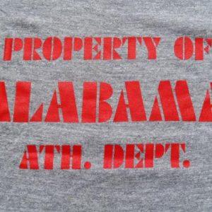Vintage 1980s University of Alabama Half T-Shirt M Artex