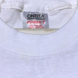 Vintage 1980s Butterfly Florida Citrus Label White T-Shirt L