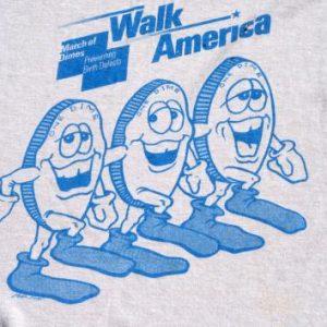 Vintage 1980s March of Dimes Walk America Gray T Shirt L/XL